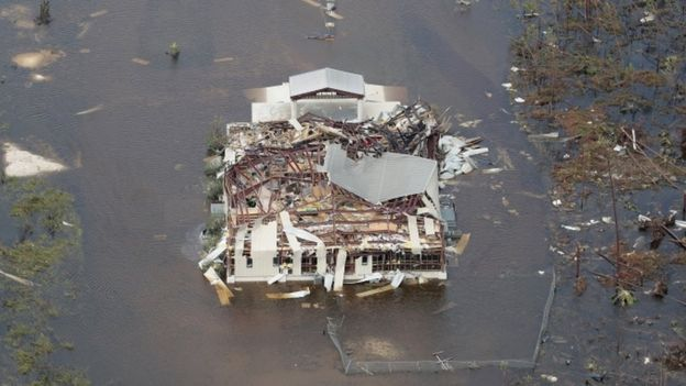 Destroyed home on the Abaco Islands