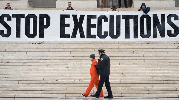 Protesta contra la pena de muerte.