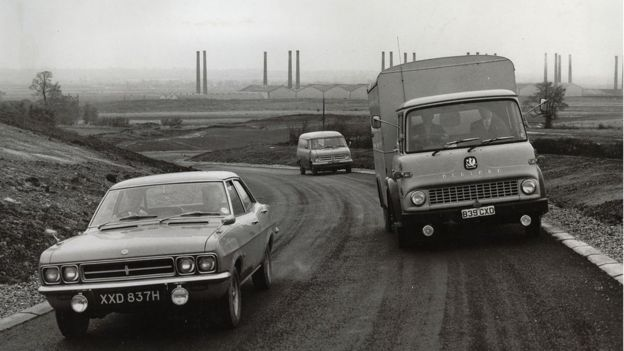 Testing of cars in 70s