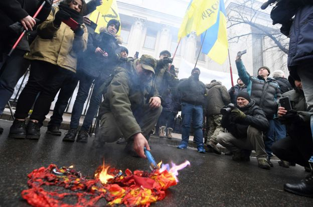 Anti-Russian protests in Kiev