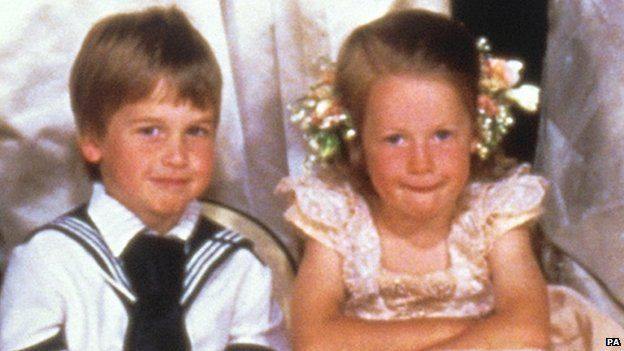 Prince William and Lady Laura Fellowes in 1986
