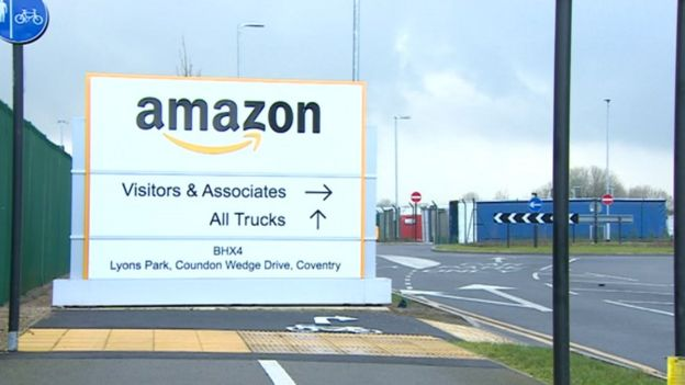 976840c36bc8c Wrong-way Amazon lorries overrun villages in Coventry - BBC News