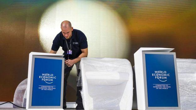 Escenario del Foro de Davos.