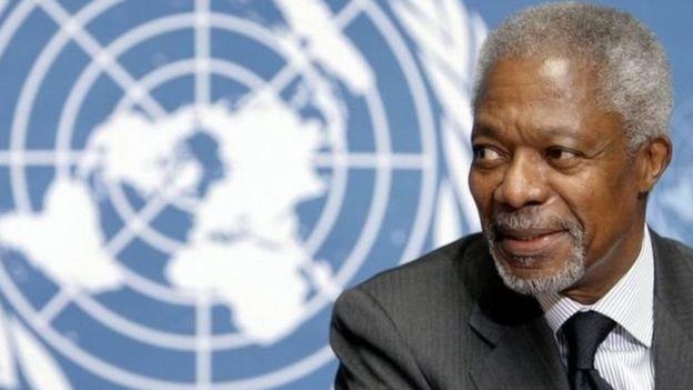 Kofi Annan, exsecretario general de la ONU y Nobel de la Paz