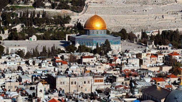 Vista de la ciudad de Jerusalén.