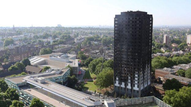 Edificio quemado