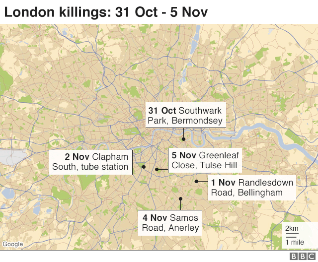 South London Map.Boy 16 Stabbed To Death In South London Bbc News