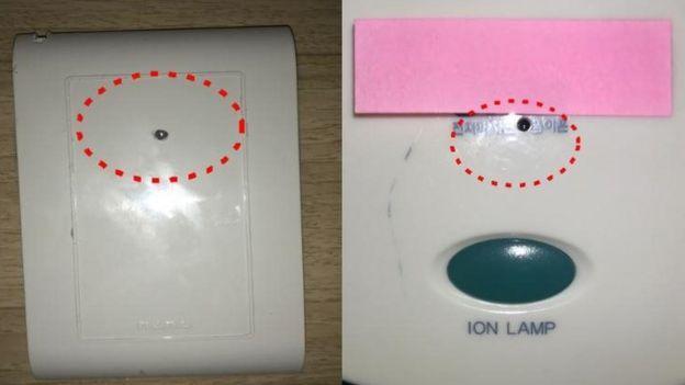 Dos ejemplos de cámaras ocultas.
