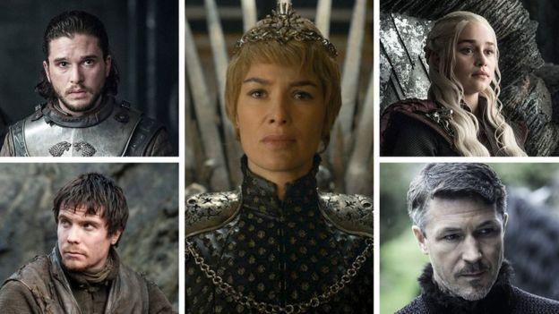 Пять действуюющих лиц сериала