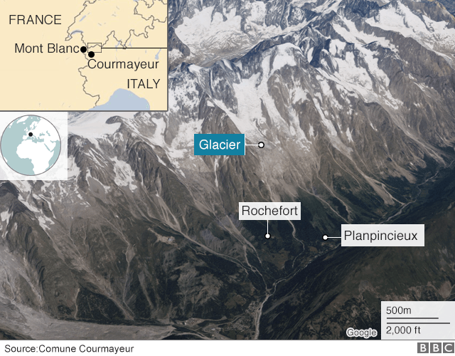 Map of Italy around Courmayeur