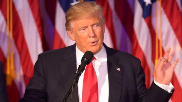 Donald Trump em discurso