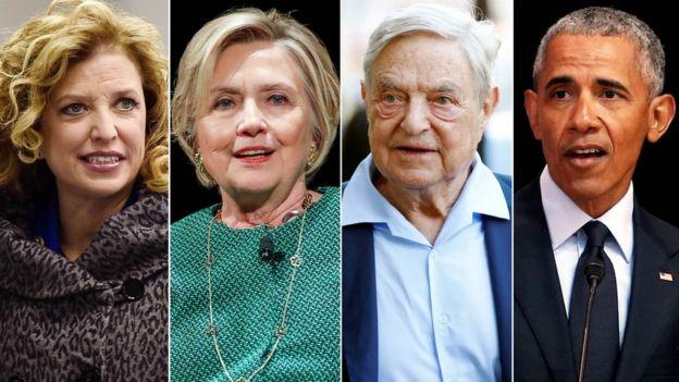 Soros no fue el único al que le enviaron paquetes explosivos, la congresista Debbie Wasserman, Hillary Clinton y Barack Obama también estaban entre los destinatarios de paquetes similares.