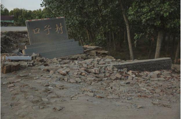 口子村是壽光災情最嚴重的村莊之一。