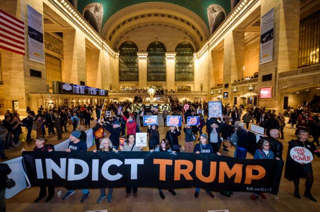 Grand Central Station in New York City was occupied by protests