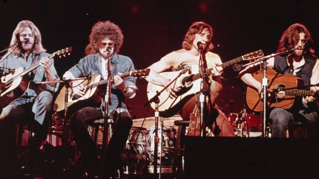 The Eagles on stage in 1979