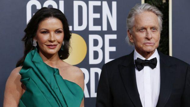 Michael Douglas En İyi Erkek Oyuncu Ödülü'nü eşi Catherine Zeta Jones'a adadı