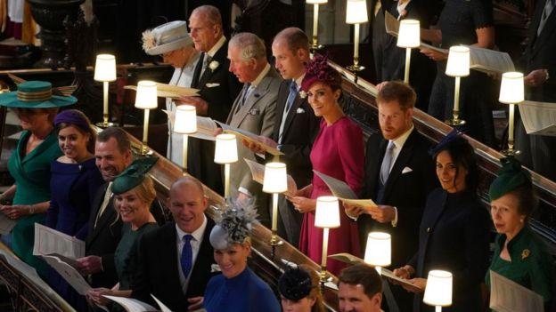 Familia real en la boda de la princesa Eugenia