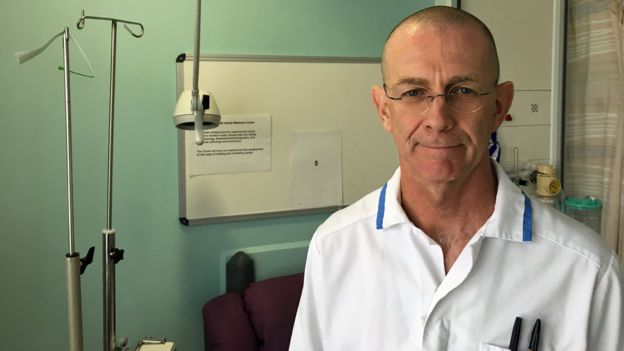 Clinical trial nurse David Buchanan
