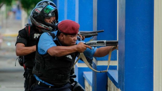Policía en Managua