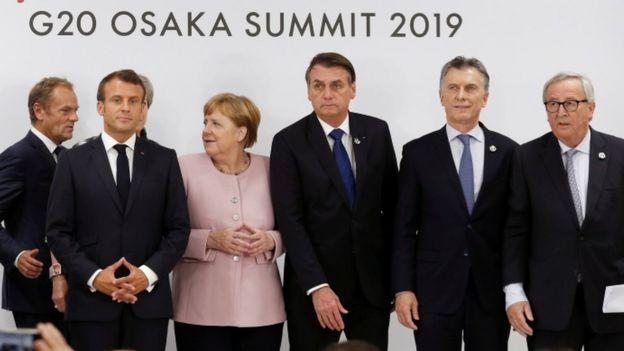 Bolsonaro e Merkel na cúpula do G20 em junho