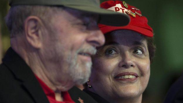 Lula da Silva junto a Dilma Rousseff.