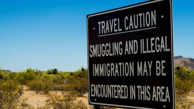 Señal fronteriza en EE.UU.