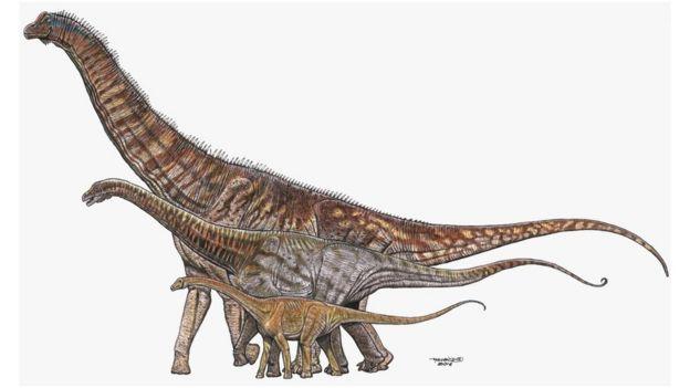 Titanossauros em ilustração