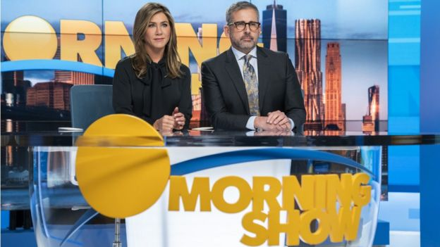 Jennifer Aniston dan Steve Carell di The Morning Show