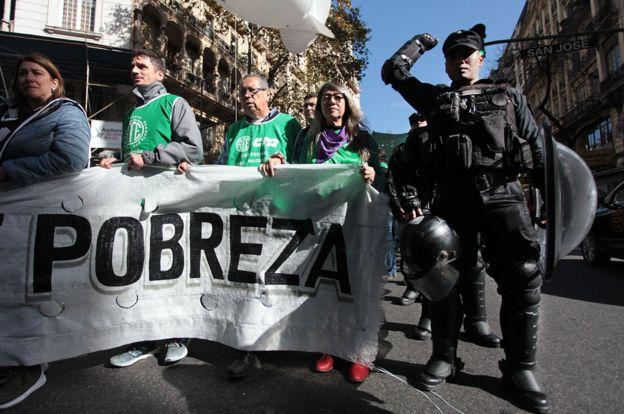 Una marcha contra la pobreza en Buenos Aires