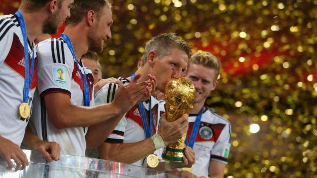 德國最近一次奪冠是在2014年的巴西世界杯。