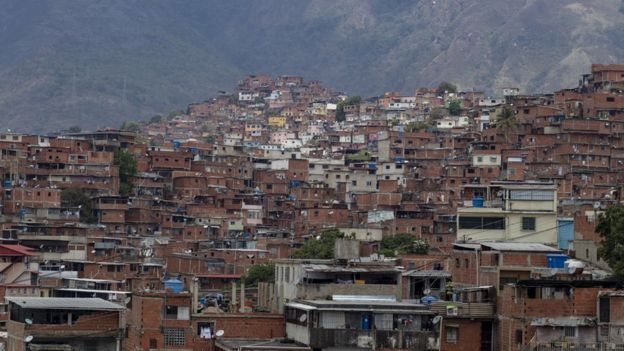 View of Petare neighbourhood in Caracas
