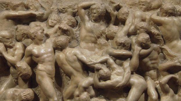 """""""La batalla de los centauros"""" de Miguel Ángel"""