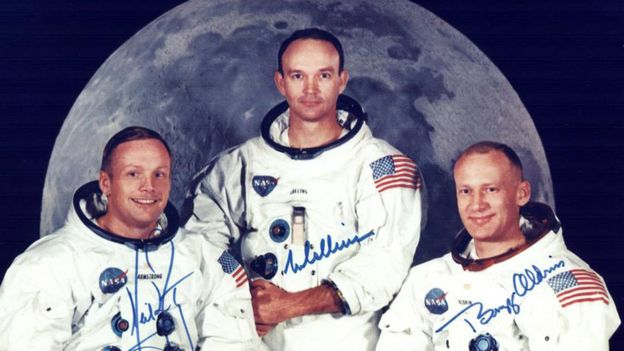 Neil Armstrong, Michael Collins y Buzz Aldrin