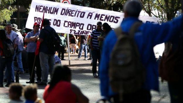 Protesto do MST em Brasília