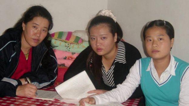 La familia de Grace Jo en una imagen tomada en China en 2004.