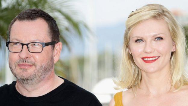 Lars von Trier y Kirsten Dunst