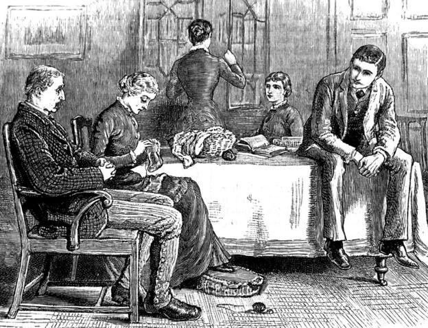 Una típica familia de clase media en el siglo XIX