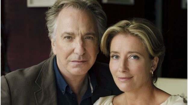 Image result for image of emma thompson and alan rickman love actually