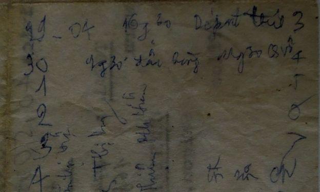 Tờ nhật ký trên biển của tác giả