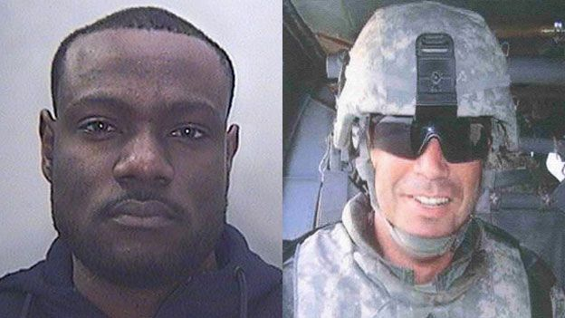 Tosin Femi Olasemo and unknown soldier