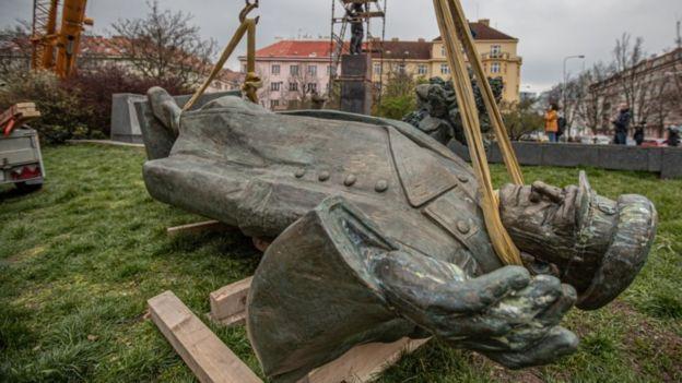 The statue of Marshal Konev, 3 Apr 20