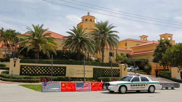 The Eau Palm Beach Resort and Spa where President Xi will stay is shown in Manalapan, Florida