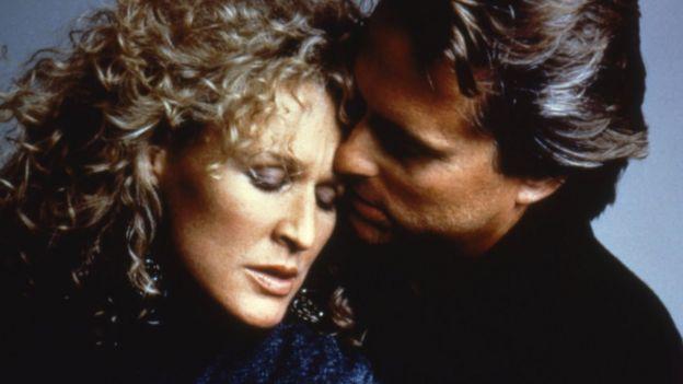 """Glenn Close y Michael Douglas en """"Atracción fatal"""""""