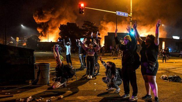 Protesta en Minneapolis