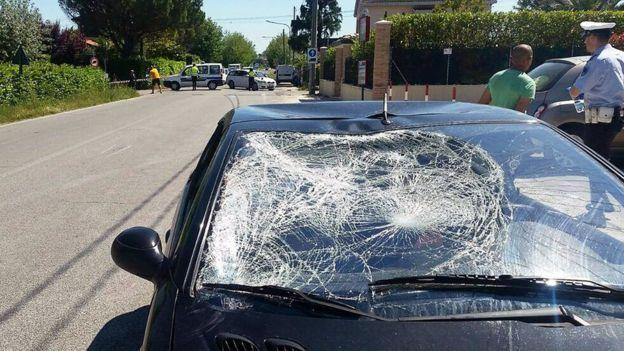 El vehículo con el que chocó Hayden