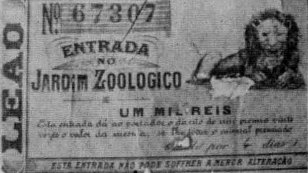 Bilhete de jogo do bicho do século 19