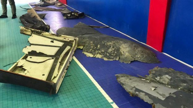 Iranian TV posted pictures of what it says was the wreckage of the US drone