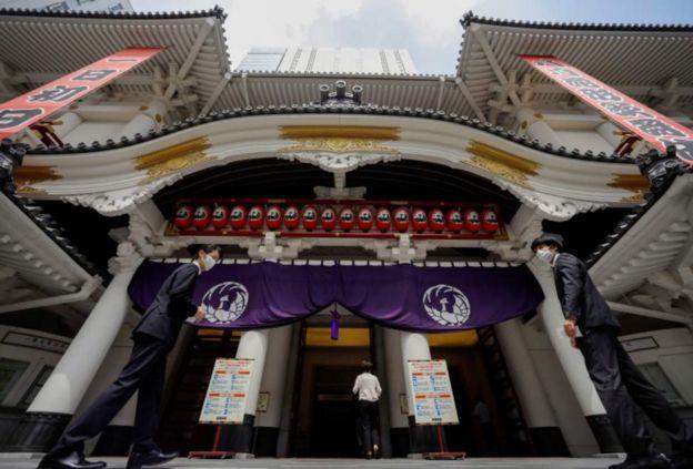 крупнейший в Японии театр кабуки,