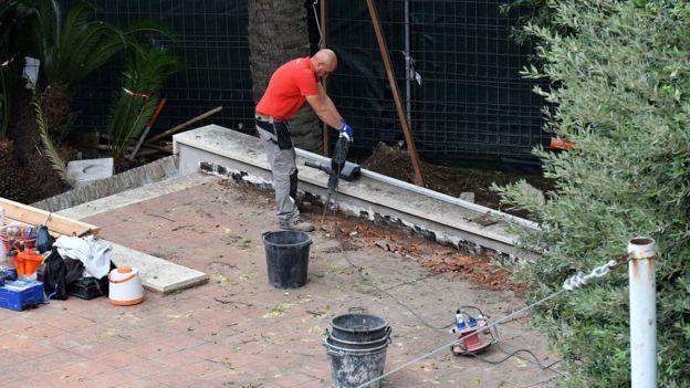 Se encontraron fragmentos de hueso durante los trabajos de construcción en la nunciatura del Vaticano el 31 de octubre de 2018
