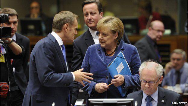 Cameron, Tusk and Merkel